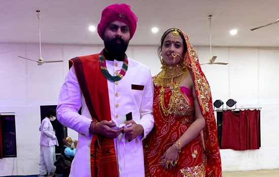 Rajasthani costumes were seen in Gaba