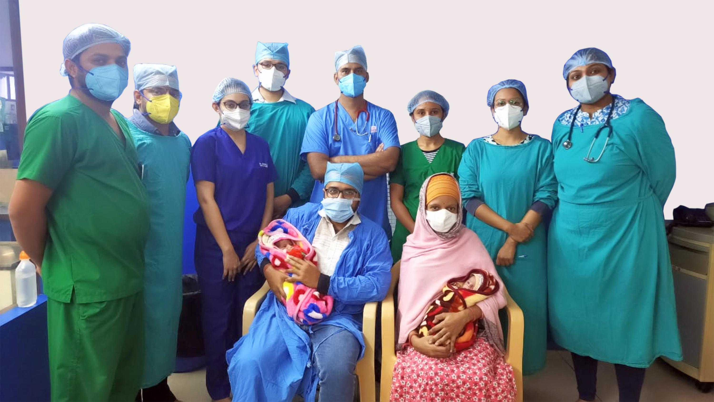 पीलिया एवं खून की कमी के साथ जन्मे नवजातों के जोड़े को गीतांजली हॉस्पिटल में मिला पुनः जीवनदान