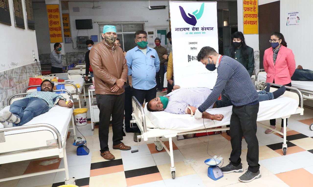 रक्तदान शिविर में 25 यूनिट ब्लड संग्रहित