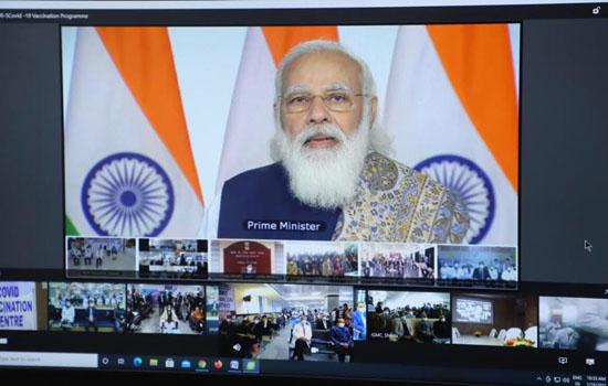 भारत में विश्व के सबसे बड़े कोविड टीकाकरण अभियान का शुभारम्भ करते प्रधानमंत्री हुए कई बार भावुक