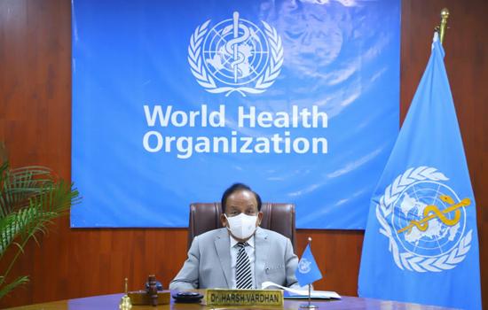 डॉ. हर्ष वर्धन ने विश्व स्वास्थ्य संगठन कार्यकारी बोर्ड के 148वें सत्र की अध्यक्षता की