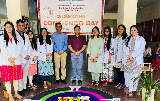 गीतांजली डेन्टल एण्ड रिसर्च इन्स्टीट्युट में राष्ट्रीय कोन्स़़-एण्डो दिवस का आयोजन