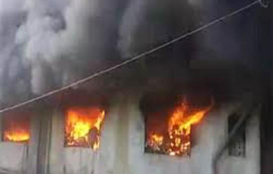 भिवंडी का 'पावरलूम फैक्टरी' जलकर हुआ खाक