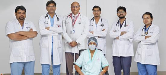 गीतांजली कार्डियक सेंटर में अत्याधुनिक एडवांसआर.एफ.आरटेस्ट के माध्यम से रोगी का सफल इलाज