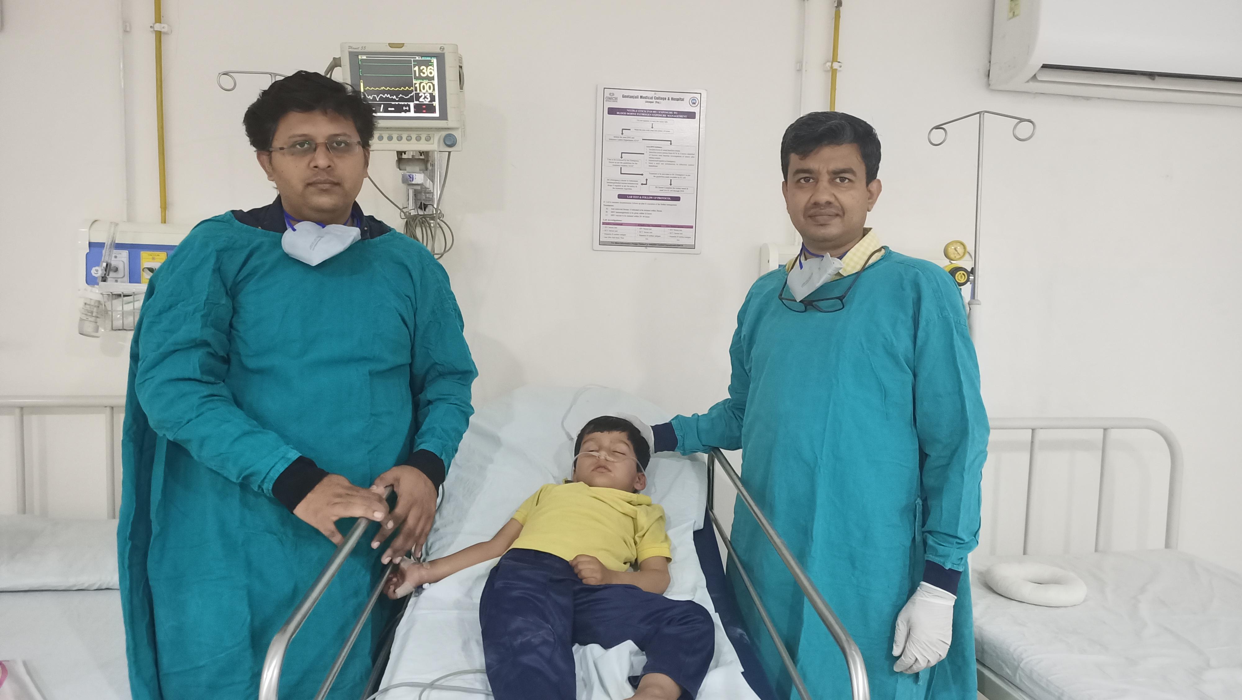 GMCH-मात्र 4 वर्षीय बच्चे की भोजन नली में फंसे अंगूर के दाने को निकालकर मिला नया जीवन