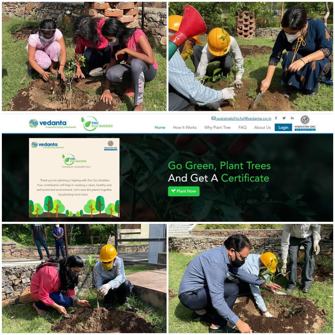 हिंदुस्तान जिंक द्वारा जिंक इको बडीज लांचः विश्व पर्यावरण दिवस पर एक क्लीक में पौधरोपण की नवीन पहल