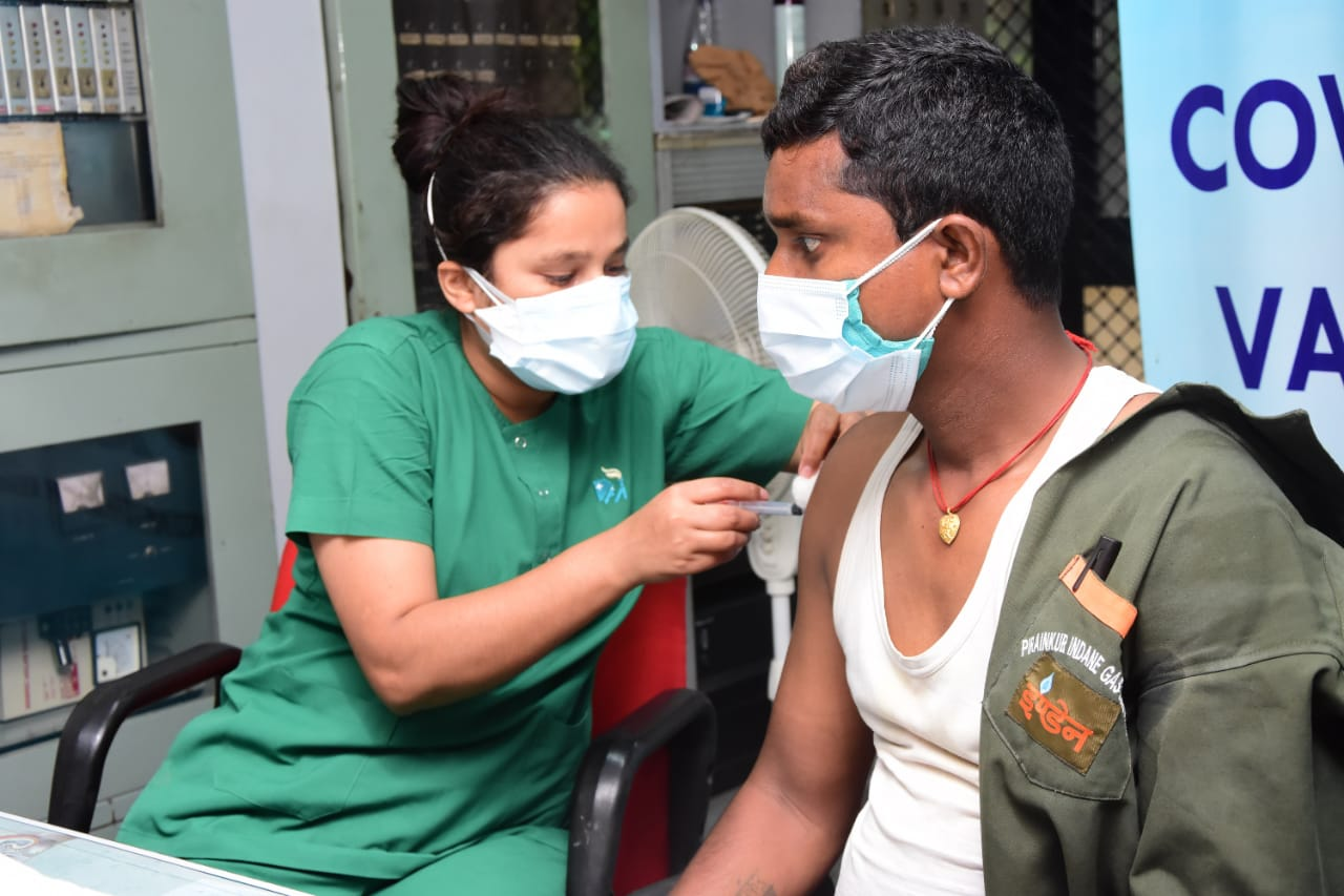 IndianOil Northern Regional Runs Mission Vaccination at workplace against Covid -19 to Safeguard Frontline Workforce