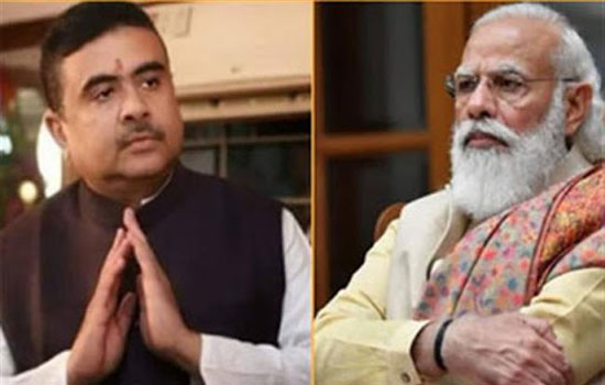 शुभेन्दु अधिकारी ने प्रधानमंत्री नरेंद्र मोदी से की मुलाकात
