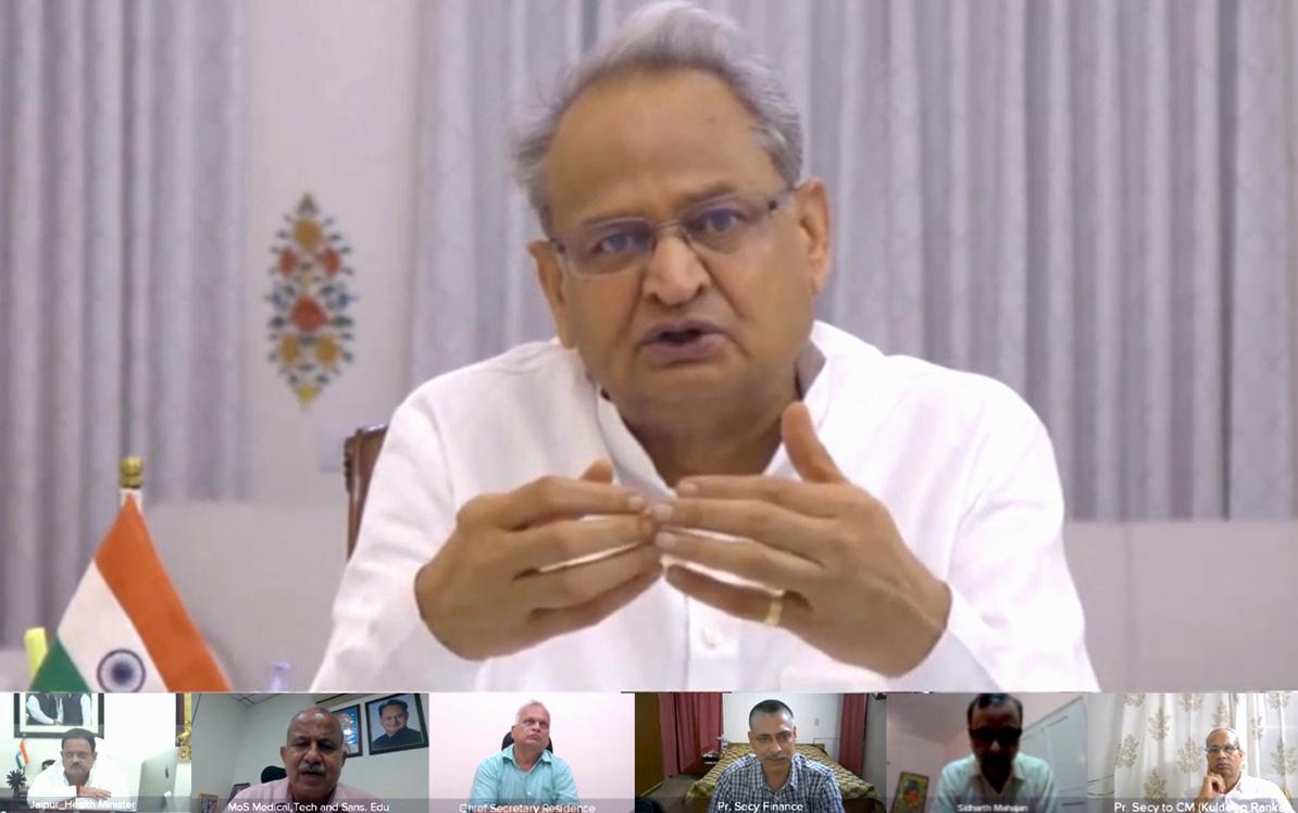 वैक्सीनेशन के लिए गांव-ढाणी तक हो बेहतरीन प्रबंधन : मुख्यमंत्री