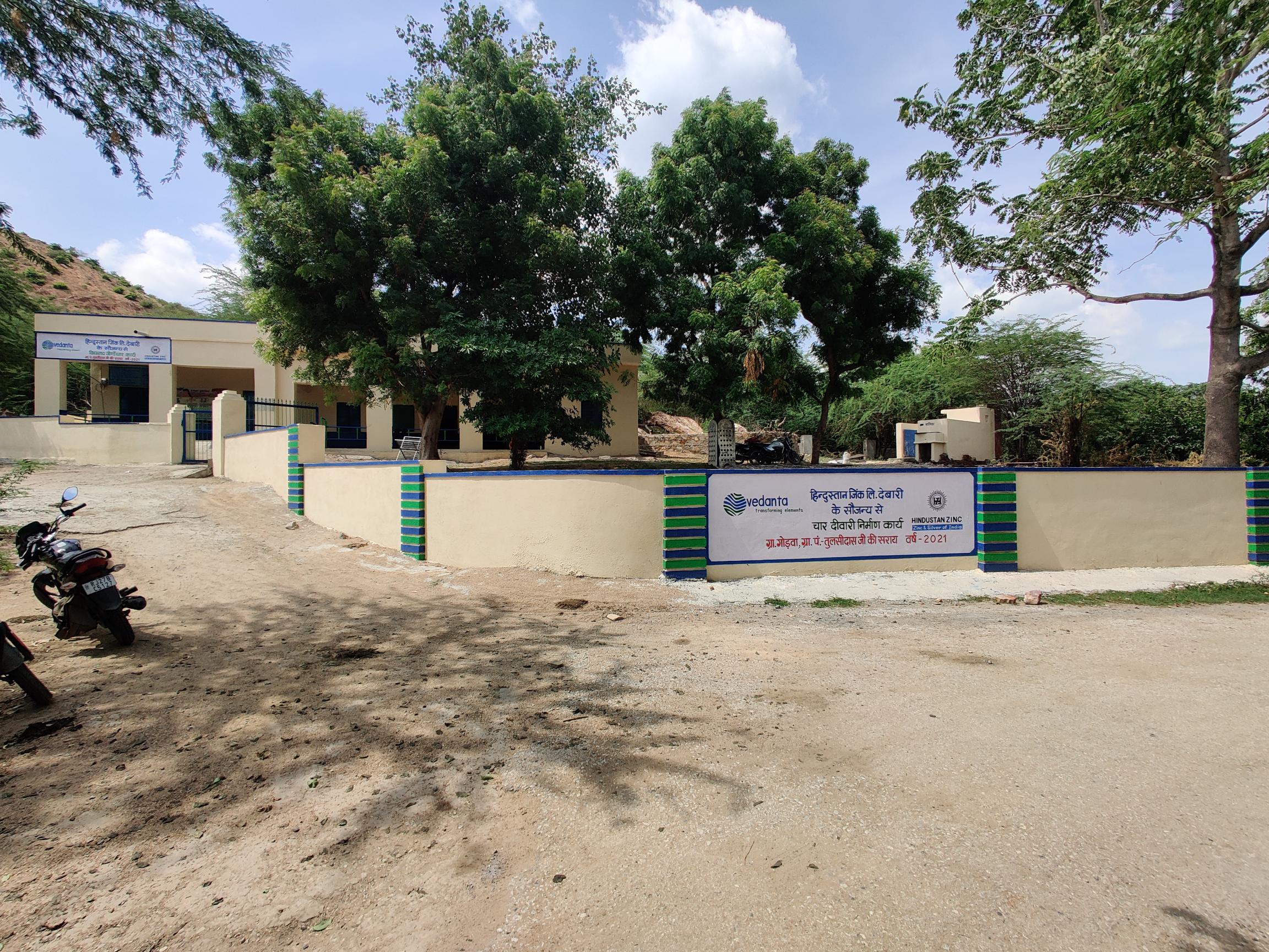 हिन्दुस्तान जिंक द्वारा गोड़वा में प्राथमिक विद्यालय के जिर्णोद्धार एवं वाटर एटीएम का उद्घाटन