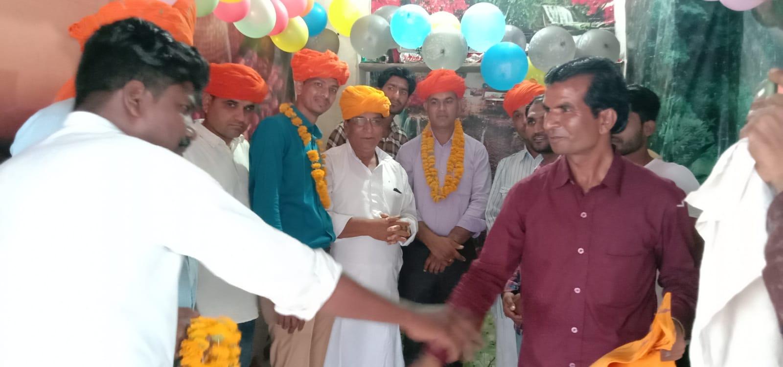 शेख के चितौड़ एवं प्रतापगढ़ जिले का मोर्चा प्रभारी नियुक्त होने पर किया इस्तकबाल
