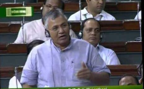 पाली सांसद चौधरी ने संसद में बिलाड़ा-बर रेल लाइन का फिर उठाया मुद्दा