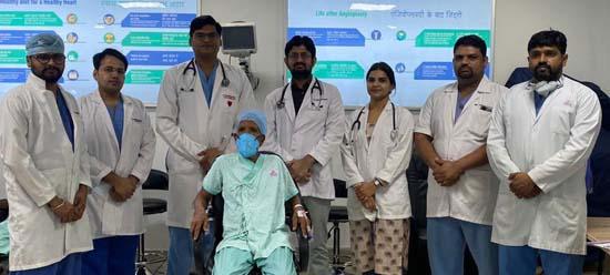 लेफ्ट मेन आर्टरी बायफरकेशन स्टेंटटिंग उपचार प्रणाली से रोगी की  बचायी जान