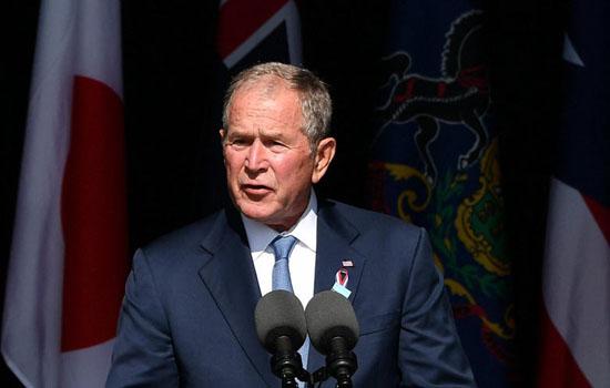 जॉर्ज बुश ने किया घरेलू चरमपंथ के प्रति आगाह