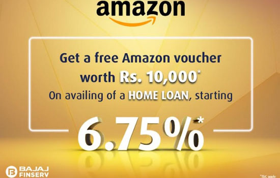 Get a Rs. 10,000 Amazon Gift Voucher Free with Bajaj Housing Finance Home Loan