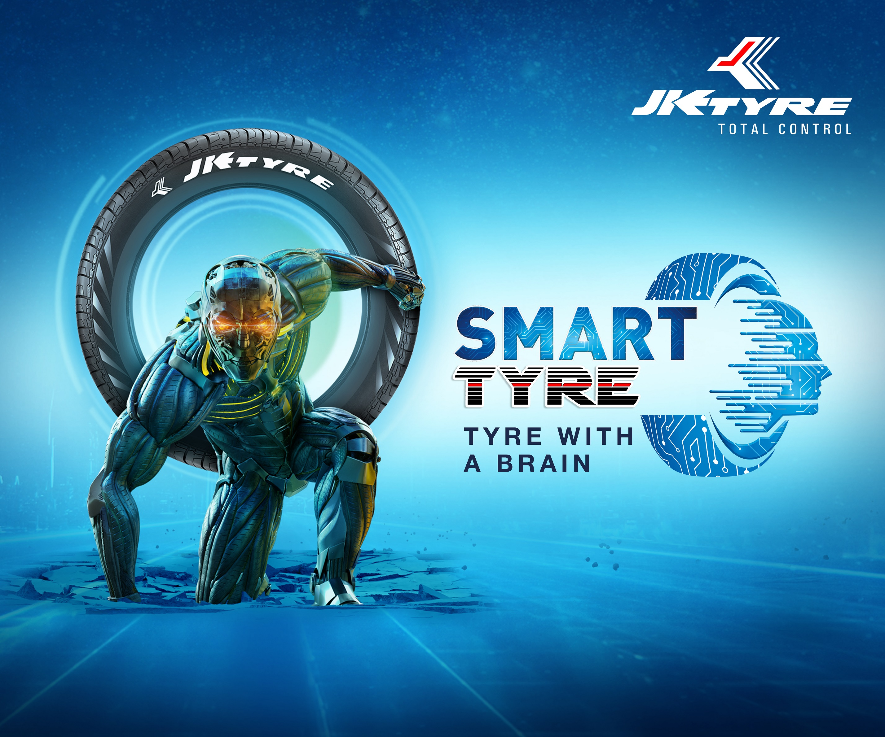 JK TYRE & INDUSTRIES LAUNCHES ITS NEW TVC CAMPAIGN  'SMART TYRE - TYRE WITH A BRAIN'