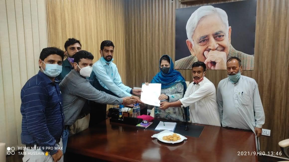 Mohd Airf chairman tractor Union jammu and kashmir meet Mehbooba