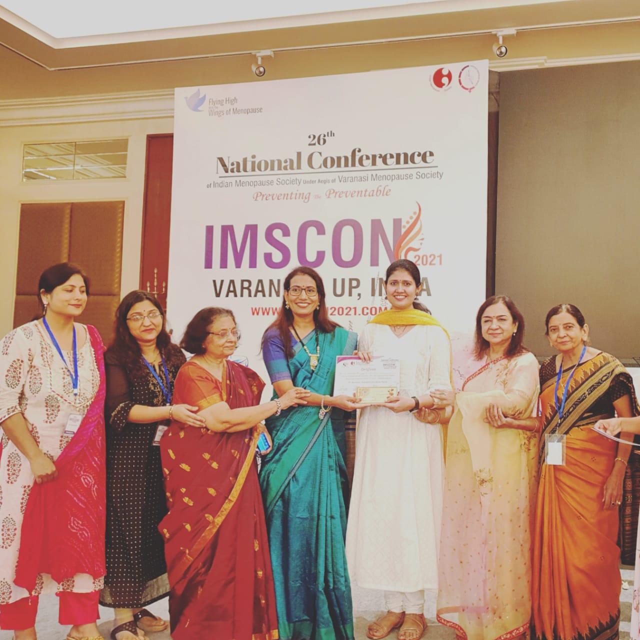 डॉ दिव्या- चौधरीनेशनल मेनुपोज़ प्रश्नोत्तरी- में प्रथम